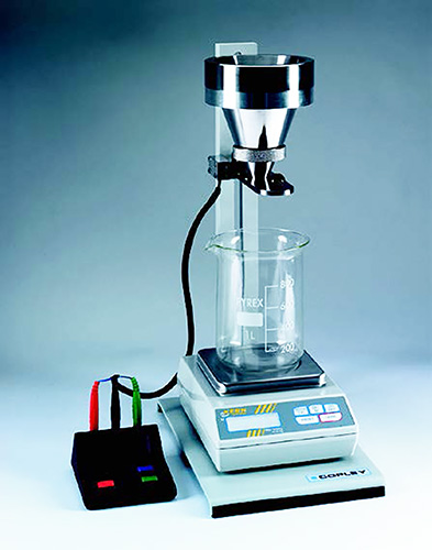 Flowability Tester with Funnel Attachment
